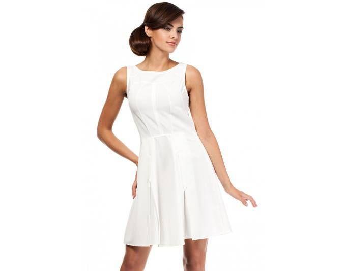 Clea Glockiges Cocktailkleid Kleid musterlos glockig ohne Ärmel ...