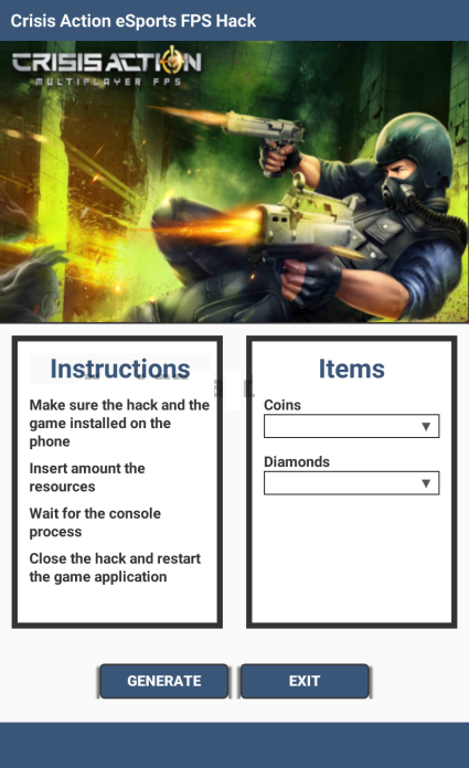 Crisis Action Cheats And Hack Free Diamonds And Coins Android Ios