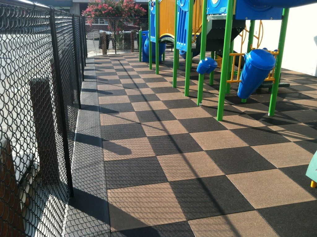 Rubber Tiles in a checkerboad pattern by Rubber Designs