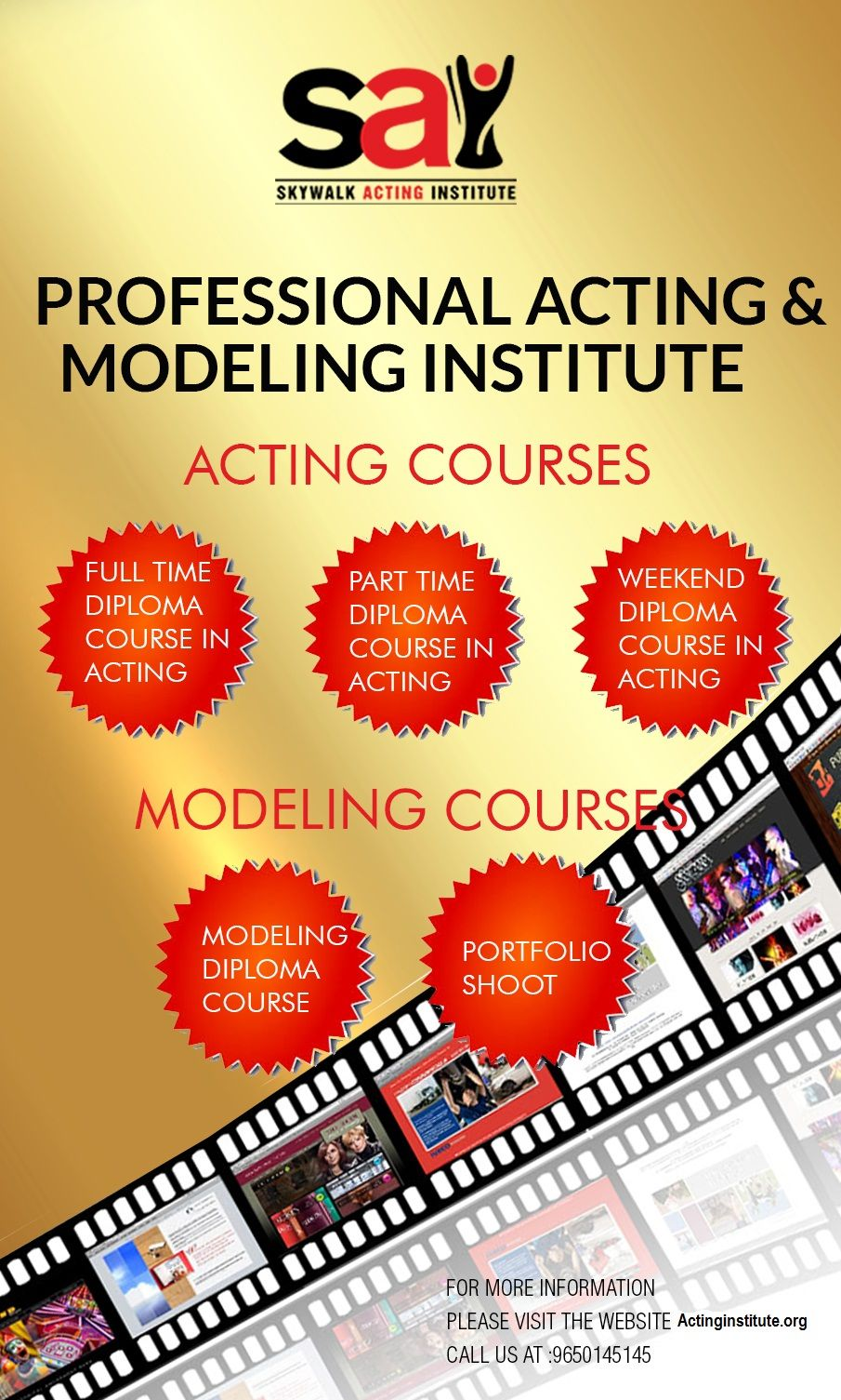 For Professional Acting And Modeling Classes You Have To Join Delhi Best Acting School None Other Than Skywalk Here Best Acting Schools Diploma Courses Acting