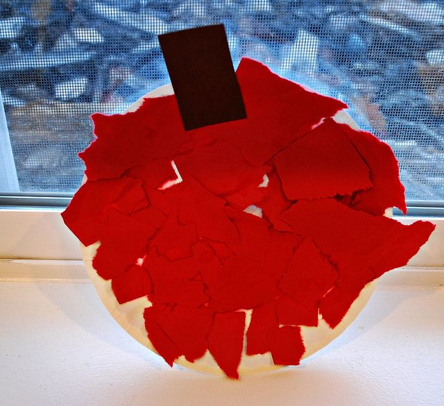 Torn paper apples...