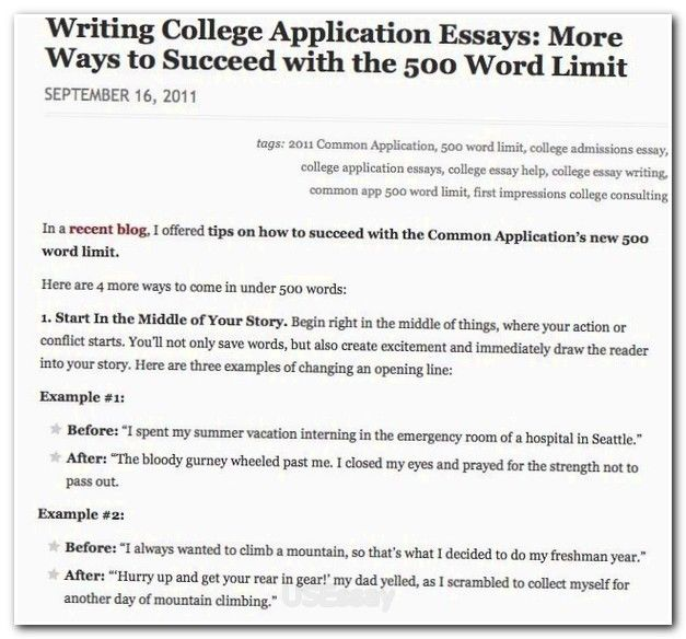 Write a winning college application essay
