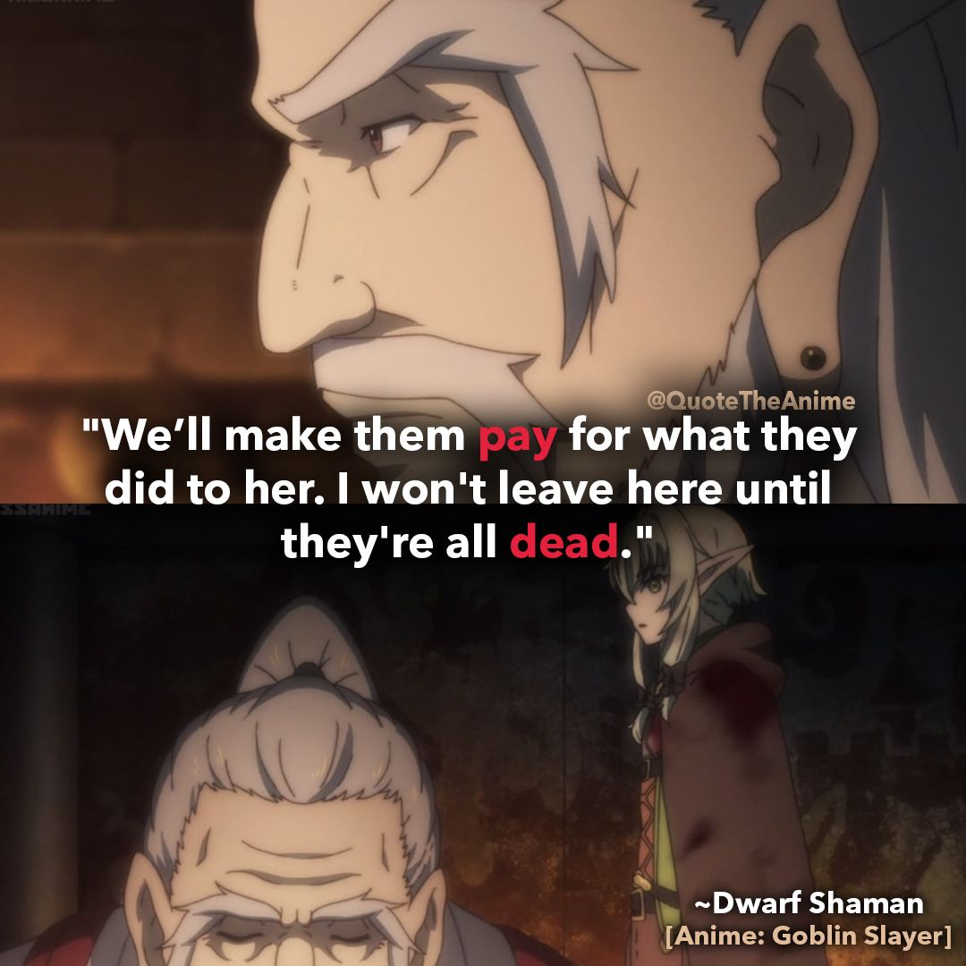 17+ POWERFUL Goblin Slayer Quotes 2019 (HQ Images