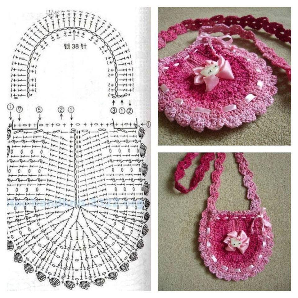Crochet bag pattern - Little girl bag | Crochet & Knitting ...