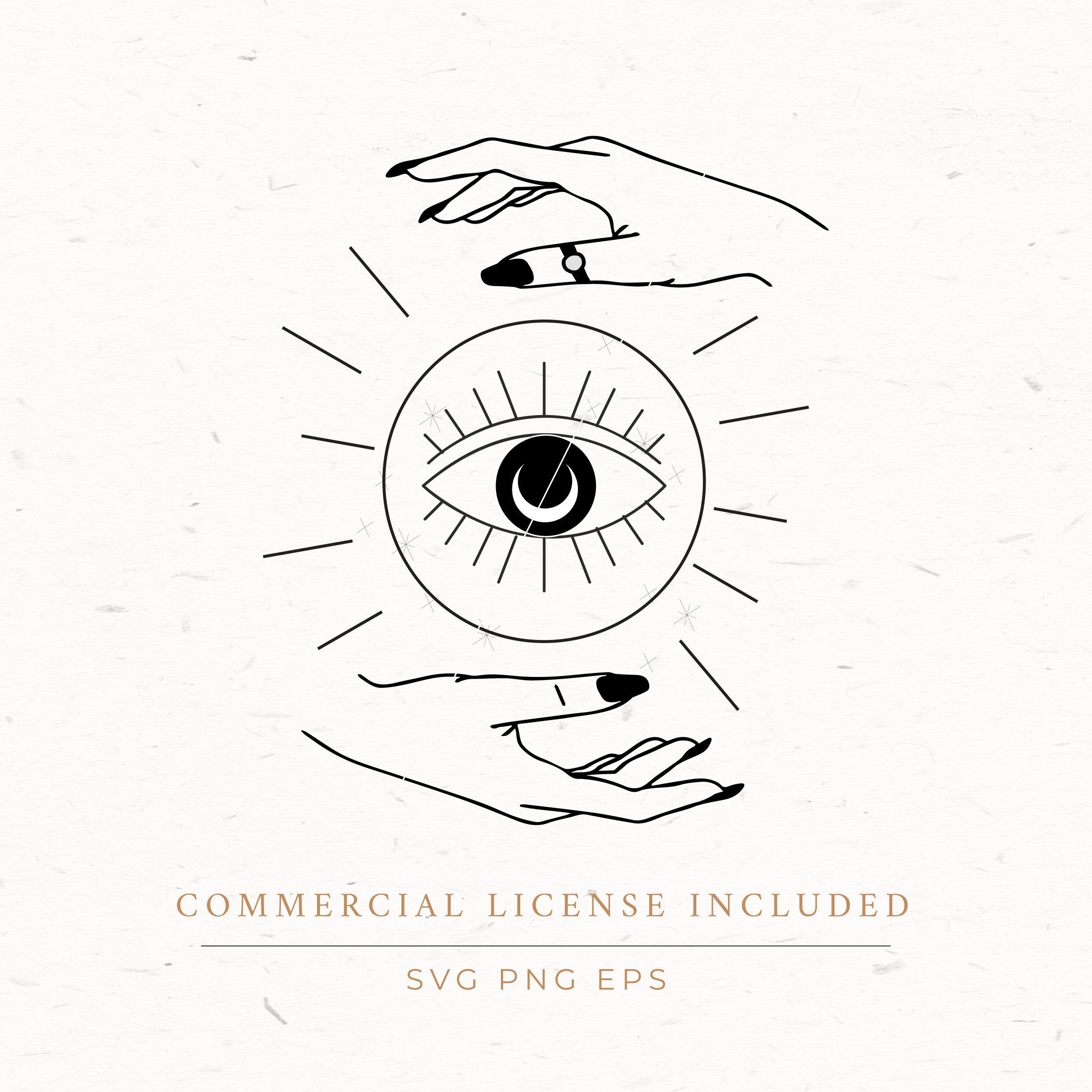 Crystal Ball With Hands Clipart Boho Svg Eps Png Crystal Etsy Crystal Ball Tattoo Hand Clipart Witch Clipart