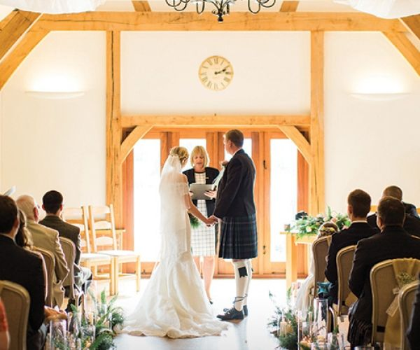 A Wedding Ceremony At Sandhole Oak Barn In Cheshire