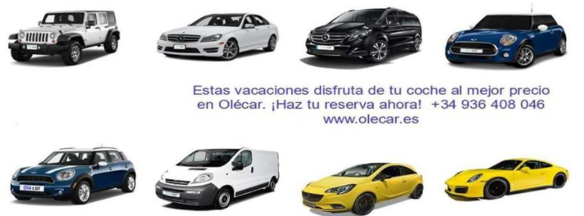 Nueva web Olecar.es Queremos darte la bienvenida a la nueva página web de Olecar.es. En nuestro sitio web en Internet podrás encontrar fácilmente alquiler de coches y alquiler de vehículos en Barcelona de acuerdo con tus necesidades y al mejor precio.  Disponemos de una flota de vehículos modernos rápidos variados y de gran calidad para responder a los deseos de nuestros clientes. En Olecar puedes reservar el vehículo que desees así como determinar el lugar día y hora de recogida y entrega…