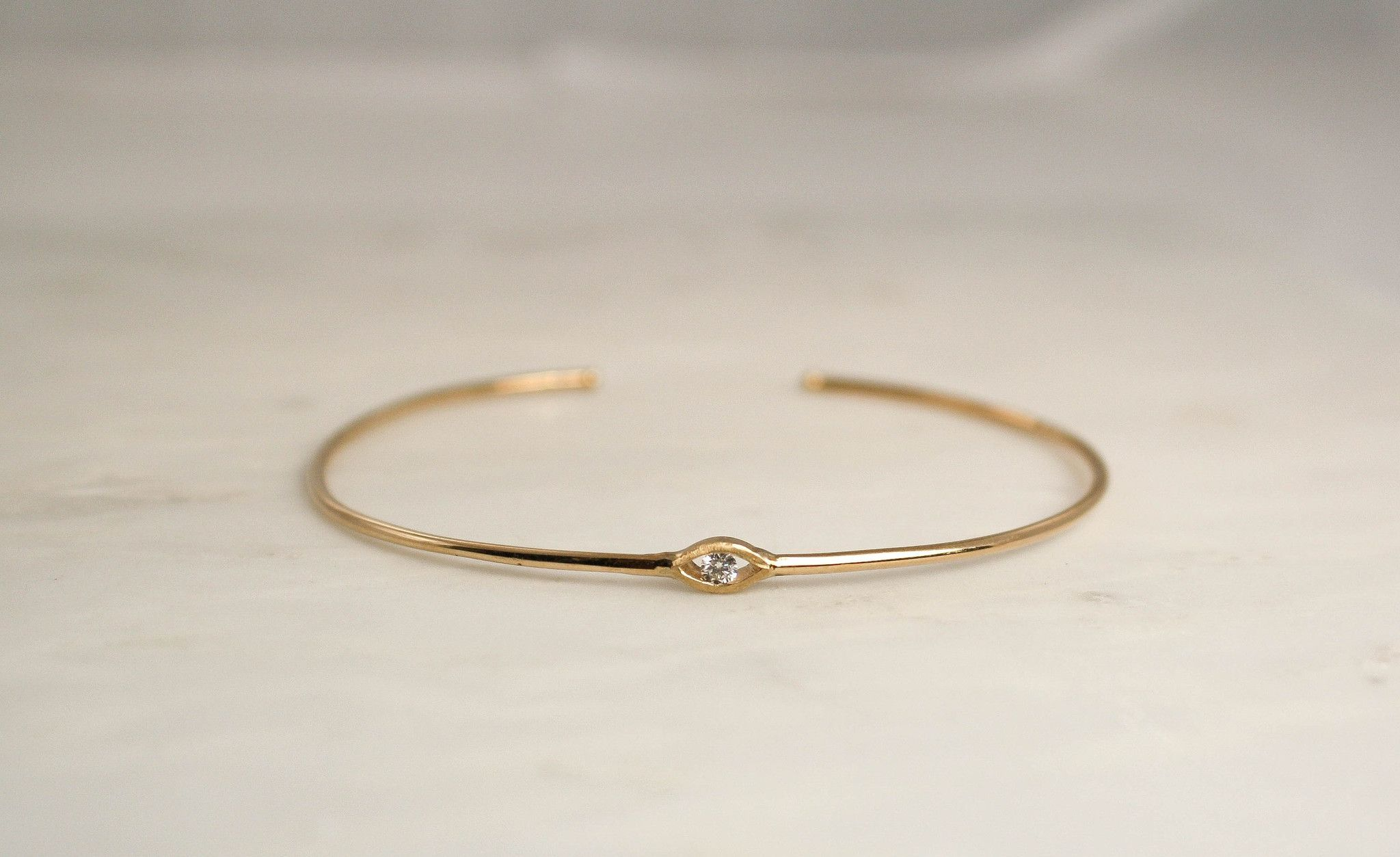 Solid gold evil eye diamond bangle bracelet in k products
