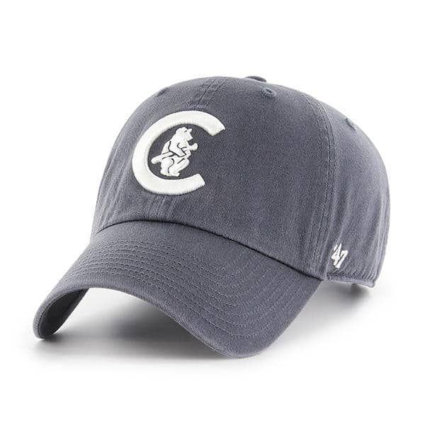 366421c239cdd Chicago Cubs 47 Brand Vintage Navy Cooperstown Clean Up Adjustable ...