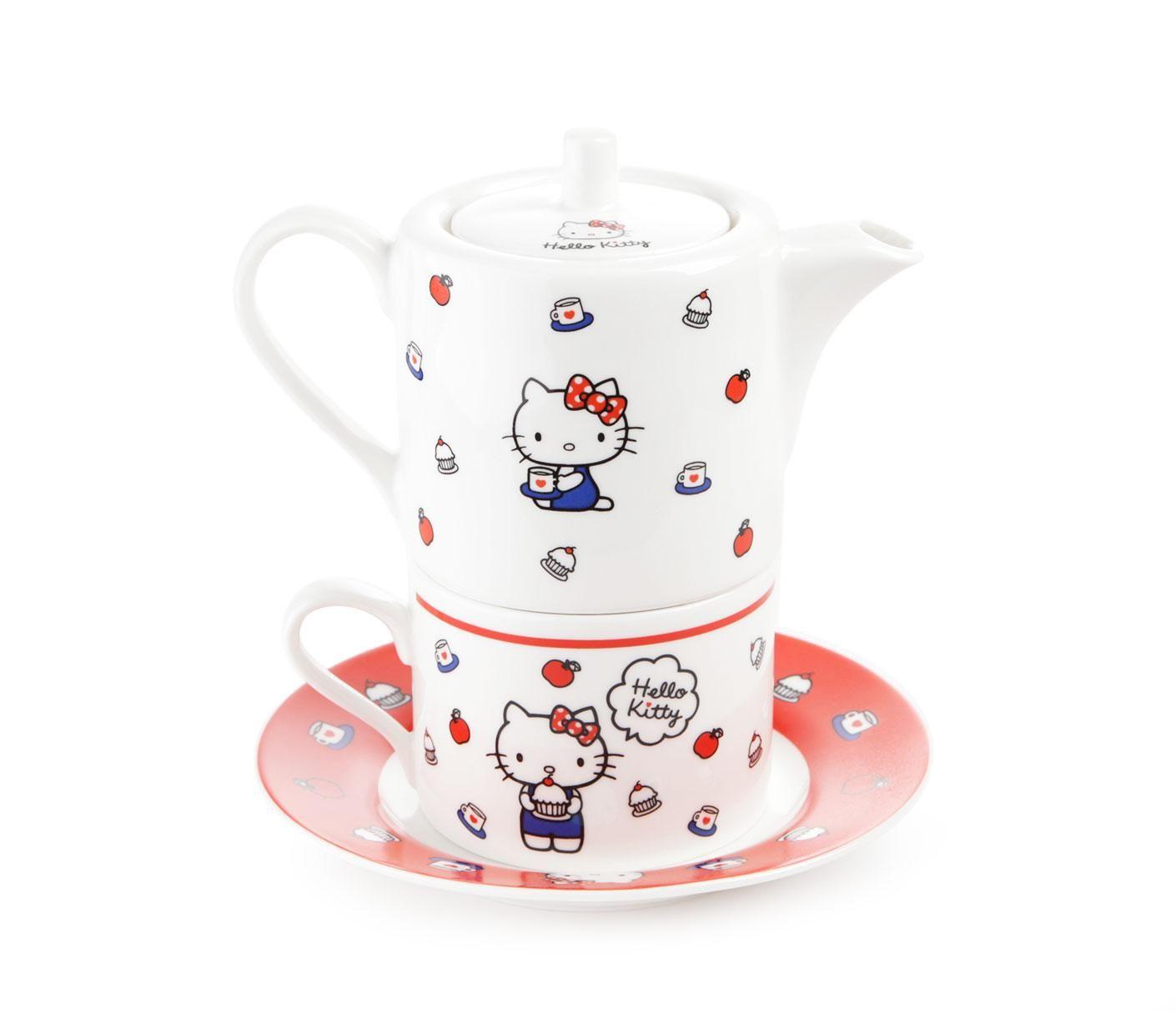 Hello Kitty Ceramic Teapot Set: Apples | Sanrio Kitchen | Pinterest ...