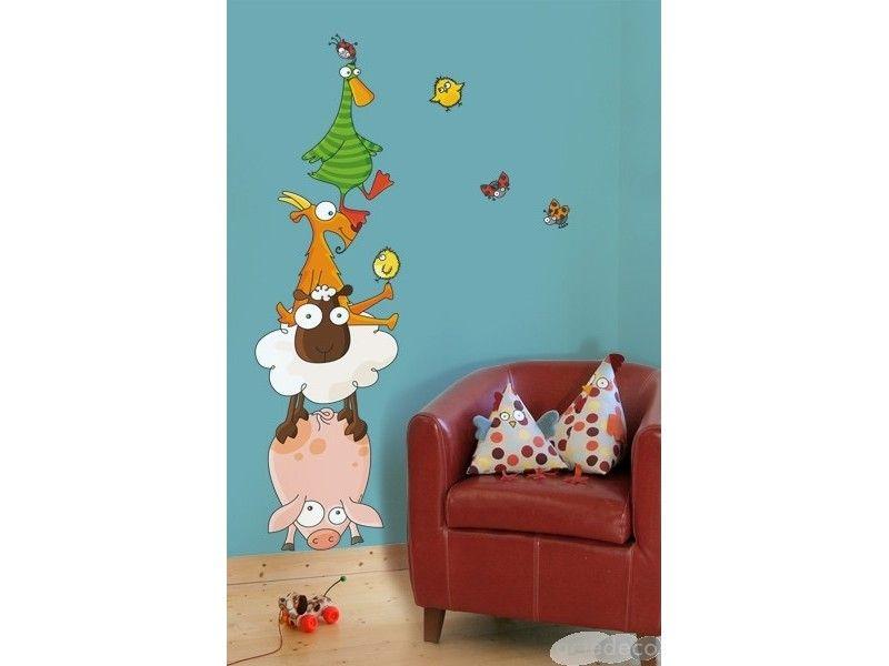 sticker enfant animaux rigolos sticker s rie golo made in france chambre enfant enfant. Black Bedroom Furniture Sets. Home Design Ideas