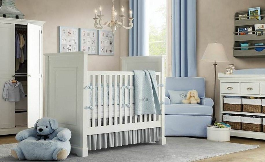 Baby Boy Nursery Soft And Rich Colors