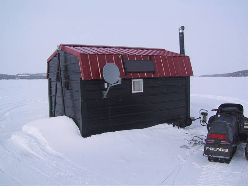 Ice fishing shack saskatchewan style menoutdoors com for Ice fishing shelters for sale