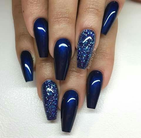 Midnight blue | nails nails and more nails | Pinterest | Midnight ...