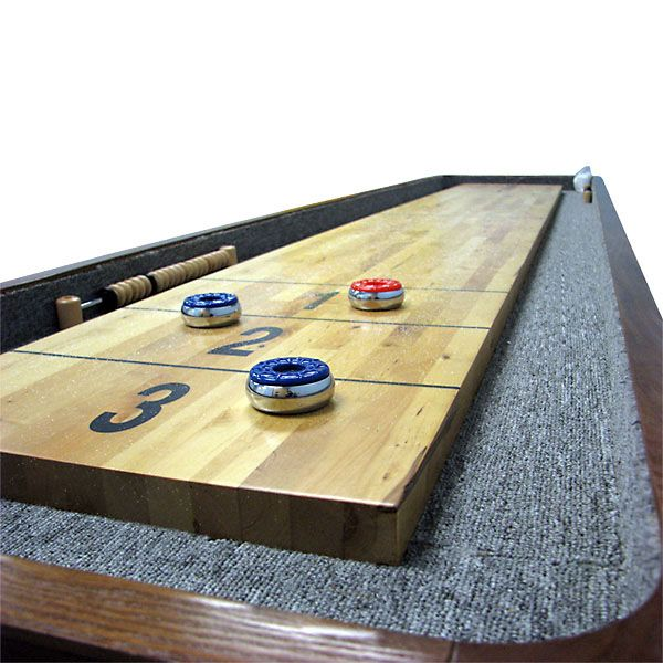 Wonderful This Shuffleboard Table Was Specifically Designed For Home Use. The  Nine Foot Long Table Is Made From Kiln Dried Rock Maple Wood Which Means It  Is Built To ...