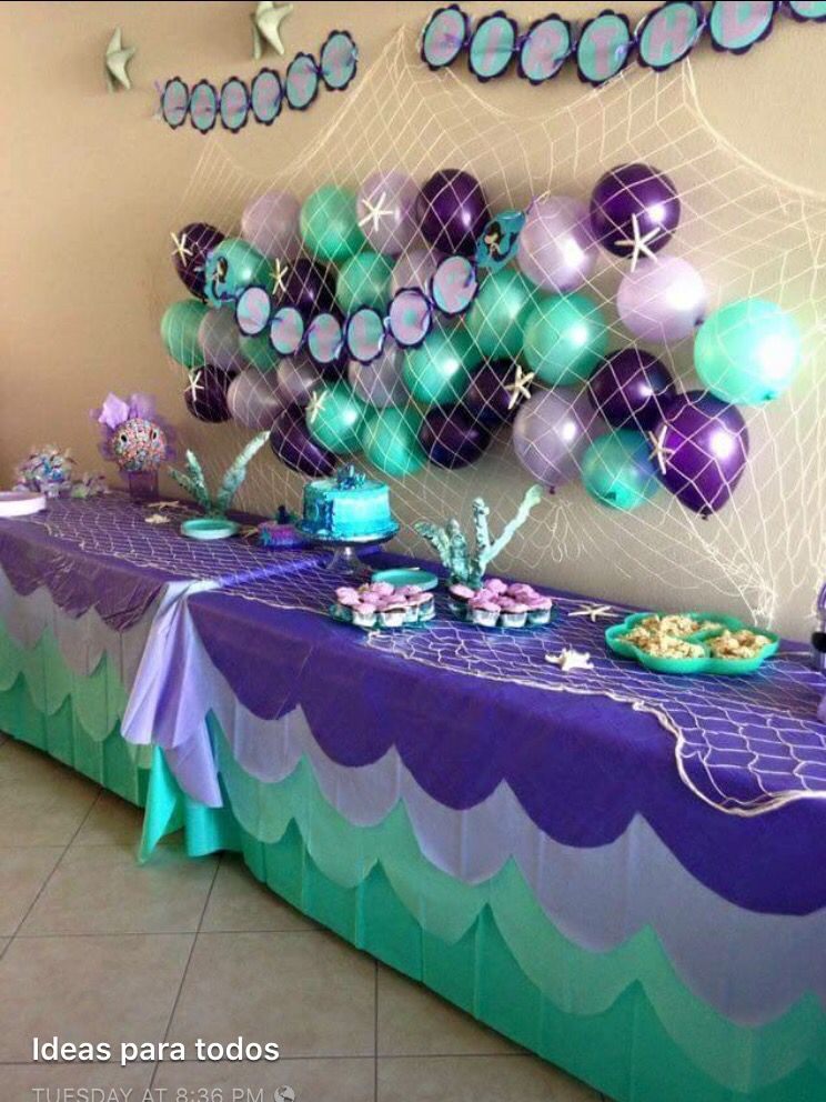 Under The Sea Girl Birthday Party Themes 5th Table Decorations