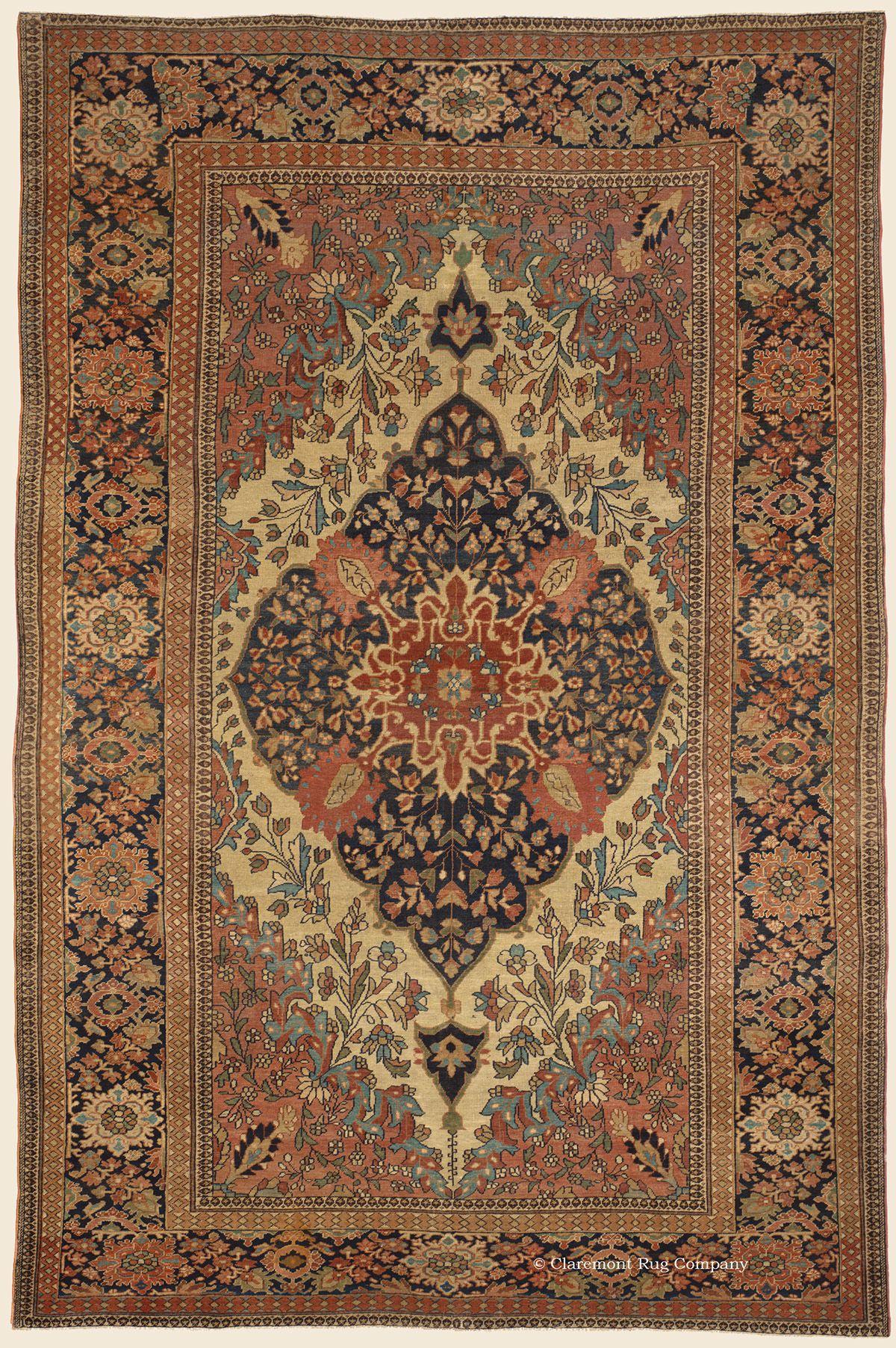 Ferahan Sarouk 6 8 X 10 1 3rd Quarter 19th Century West Central Persian Antique Rug Clarem Persian Rug Designs Antique Persian Carpet Persian Carpet
