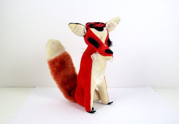 1960's Fun Farm Red Fox with French Beret door CuteAndSweetVintage, $20.00