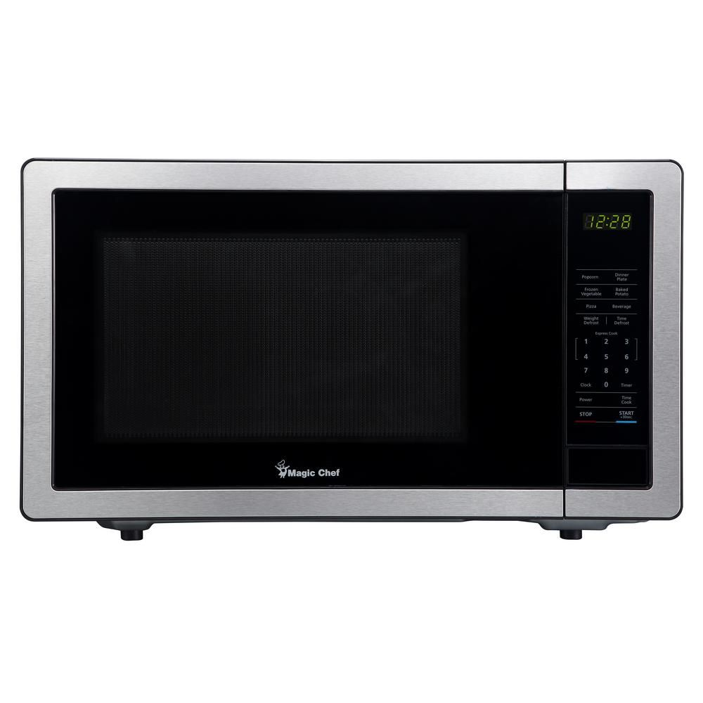 Magic Chef 1 1 Cu Ft Countertop Microwave In Stainless Steel
