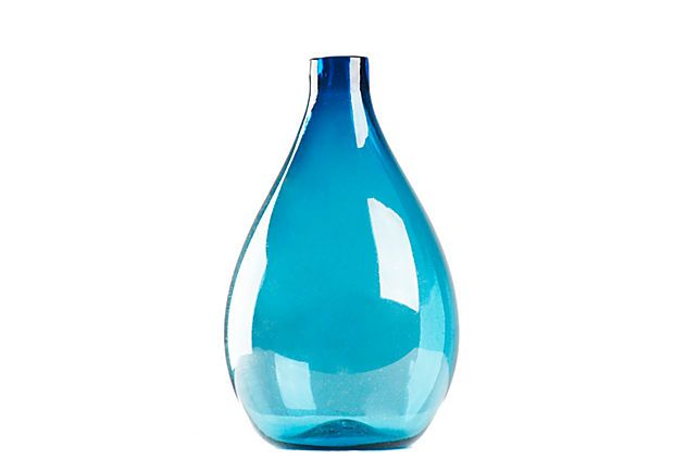 Pool Blue Vase, Medium on OneKingsLane.com