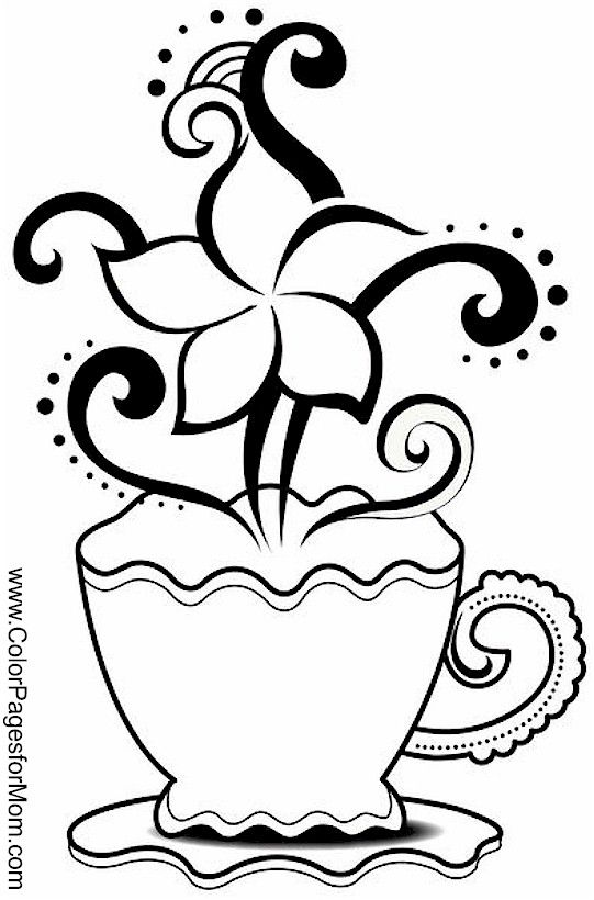 coffee coloring page 20 draw