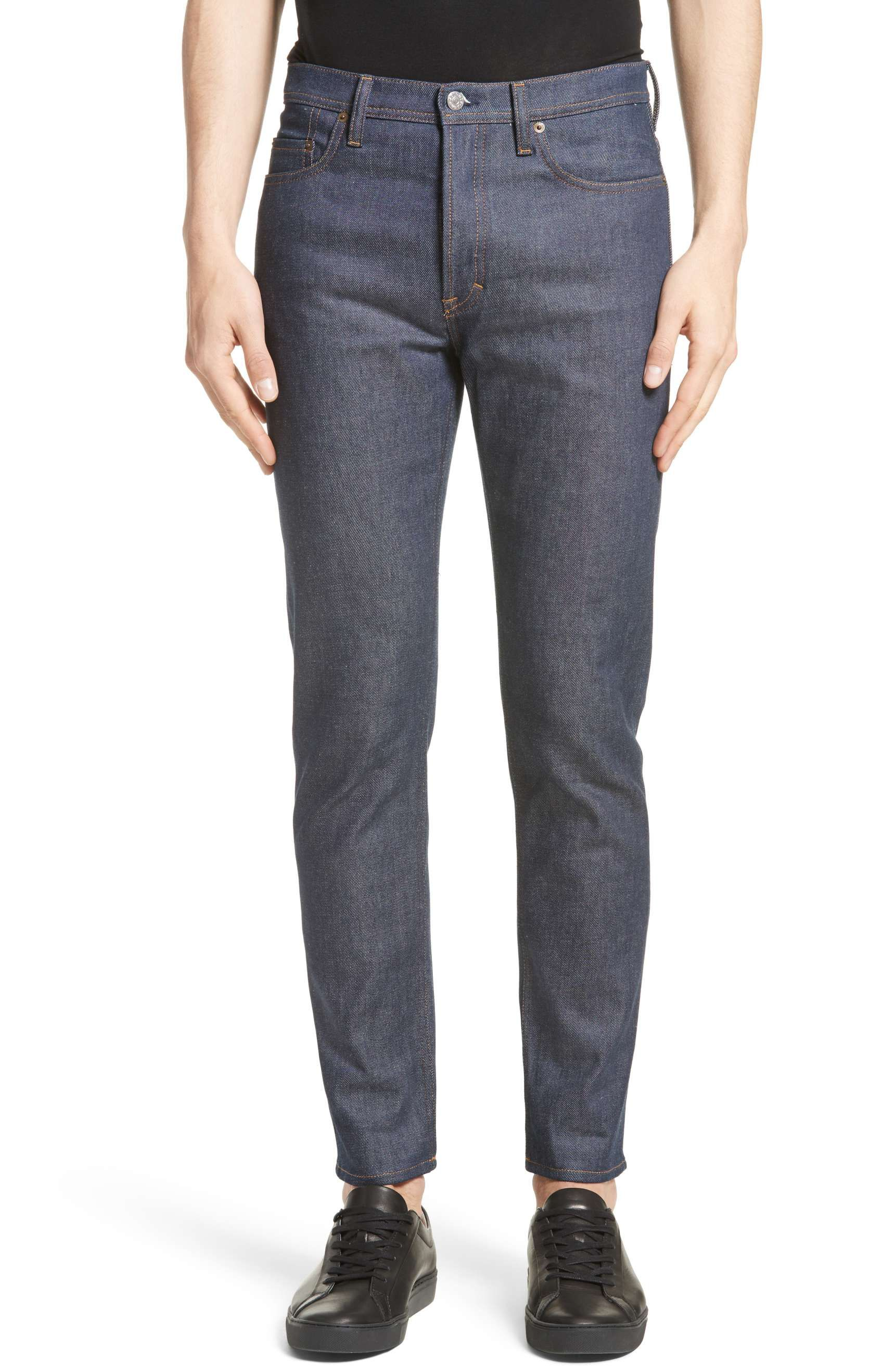 b7cea8655ce4ed Best New Jeans for Men 2017: Mens Acne Studio Tapered Leg Indigo Denim 2018