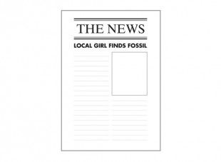 This Newspaper Report Template Can Be Used With The Fossil Hunters Of The  Past Lesson Plan