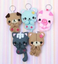 Plush keychains #Cute #Adorable