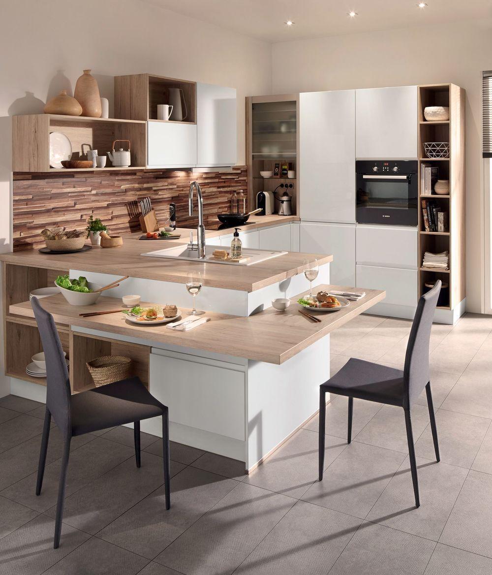 Cuisine Avec Coin Repas Table Bar Ilot Pour Manger Ilots Central Cuisine Cuisine Moderne Et Cuisine Conforama
