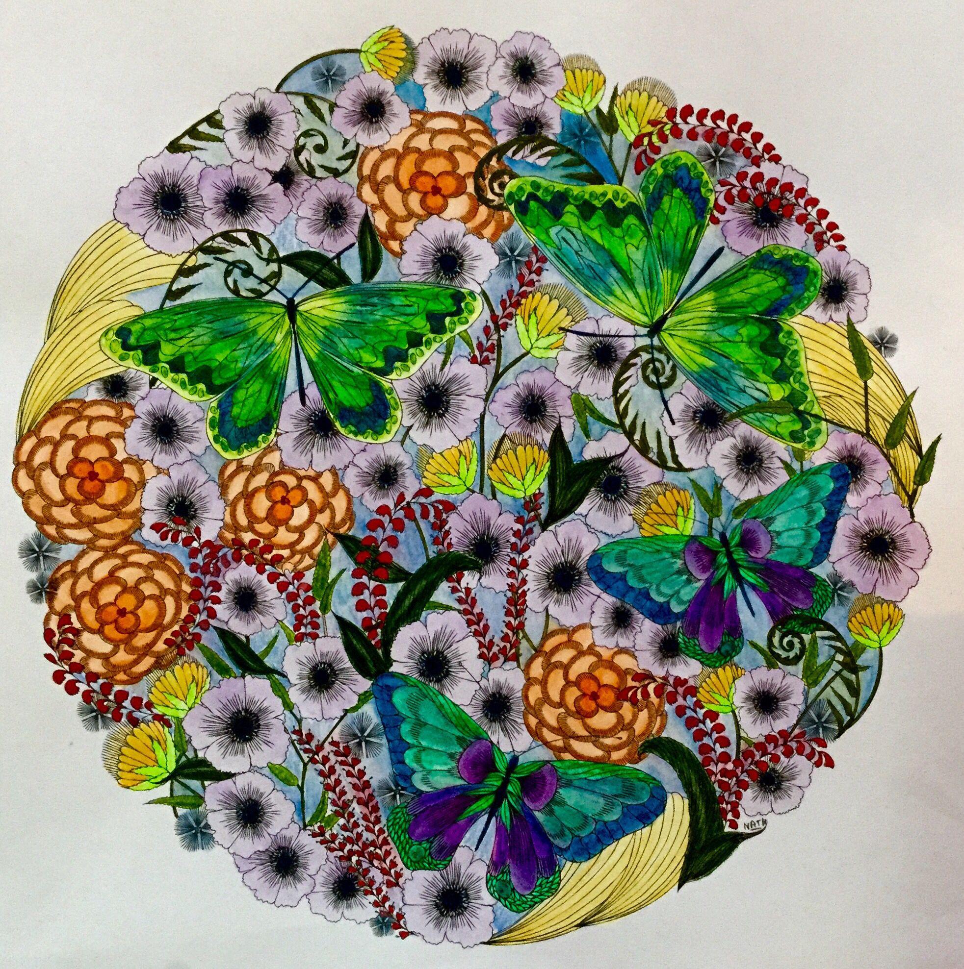 My Coloring Millie Marotta Animal Kingdom Mandala Flowers