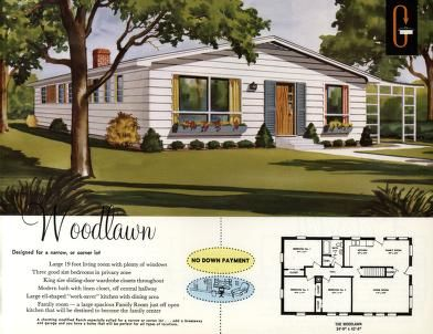 The Woodlawn Grossman S Quality At Low Cost Homes Vintage House Plans Woodlawn Vintage House