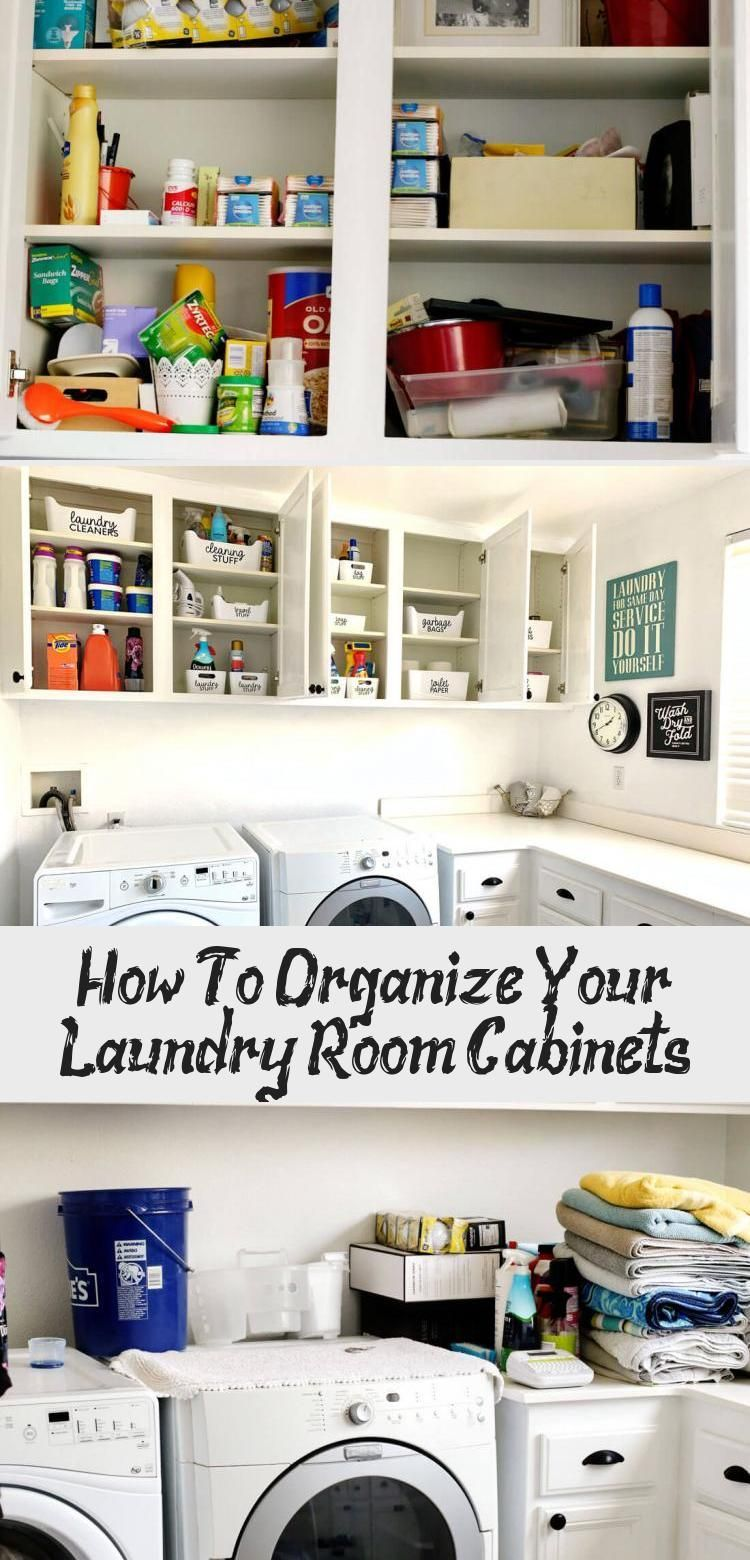 How To Organize Your Laundry Room Cabinets #organizemedicinecabinets How to Organize Laundry Room Cabinets - before, during and after!  www.thirtyhandmadedays.com  #organization #laundryroom #laundryroomorganization #Industriallaundryroom #laundryroomLuxury #Basementlaundryroom #laundryroomDoor #Biglaundryroom #organizemedicinecabinets