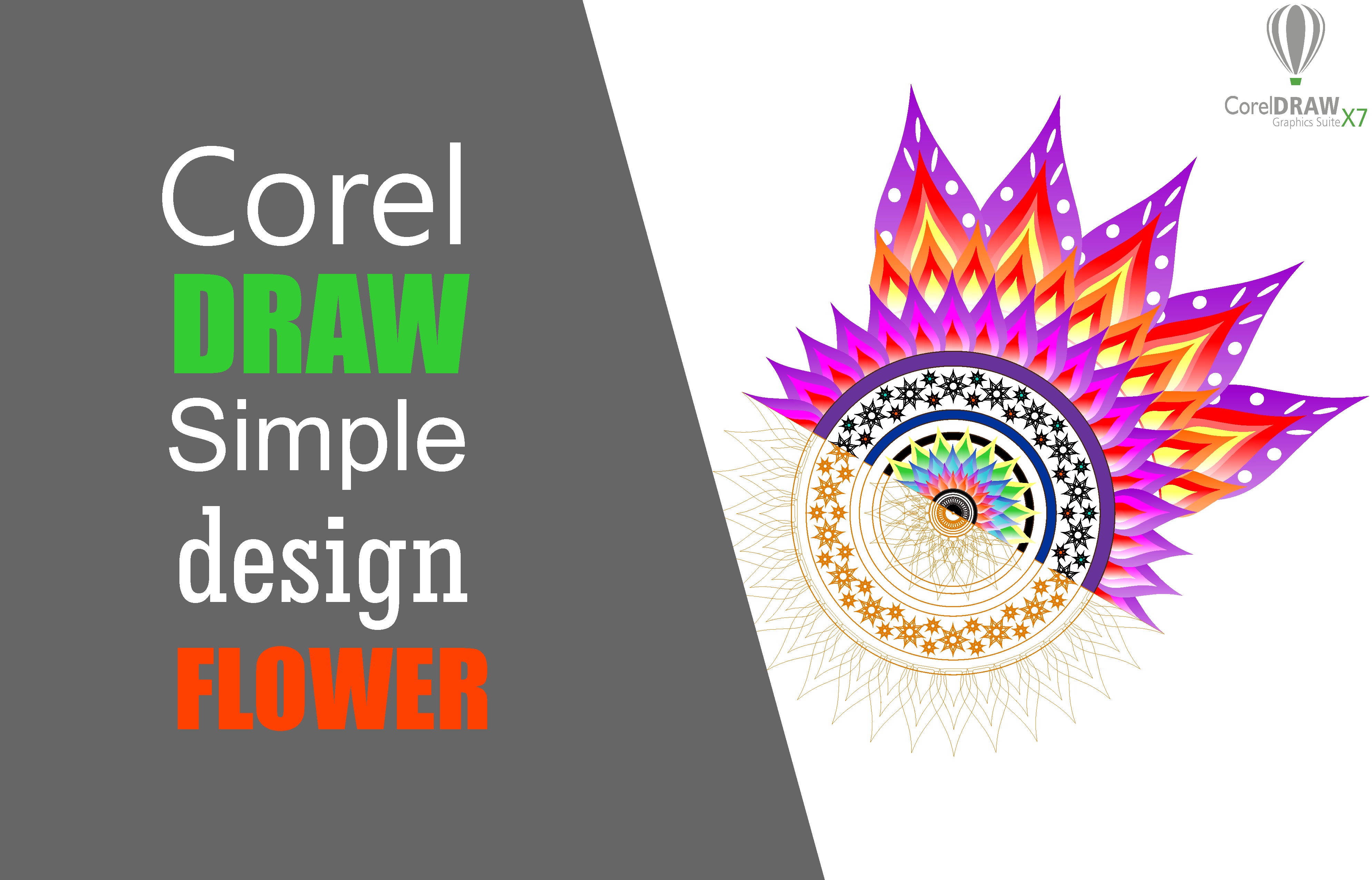 Simple Flowers Coreldraw Tutorial This Tutorial About Simple Flower Design Here The Techniques Used