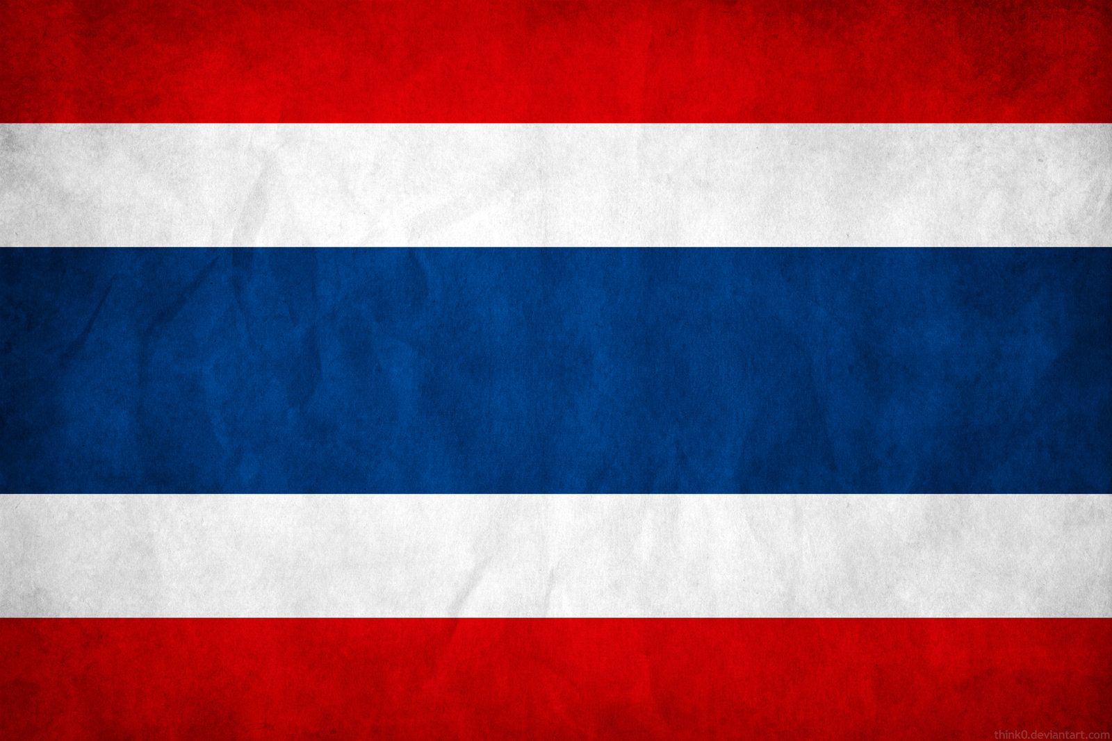 Thailand Grunge Flag By Think0 Deviantart Com On Deviantart