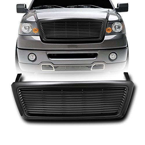 Vxmotor Matte Black Horizontal Billet Front Hood Bumper Grill Grille Cover Replacement Kit Abs 2004 2008 Ford F150 Pickup For Ford F150 Ford F150 Pickup F150