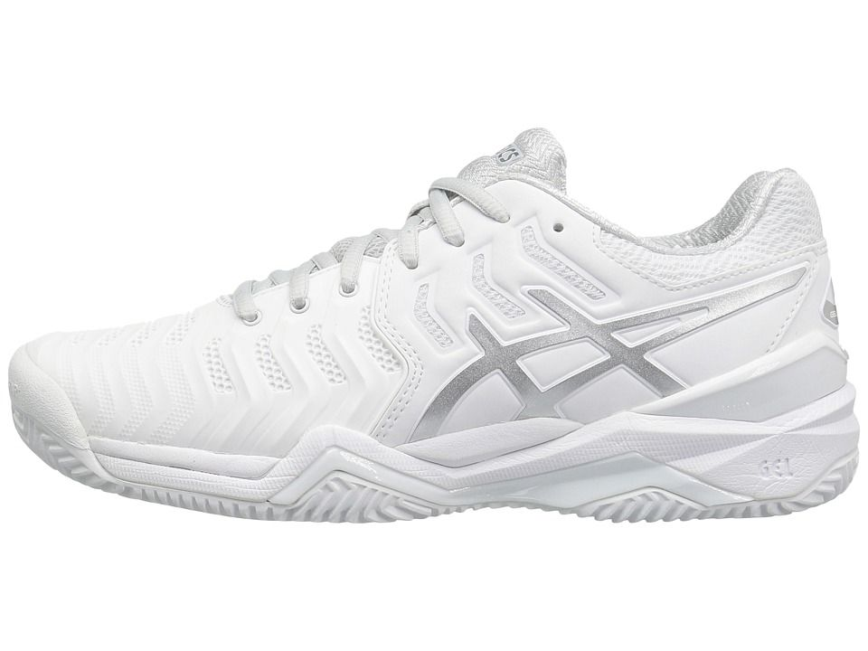 ASICS Gel Resolution 7 Clay Court Women's Tennis Shoes White