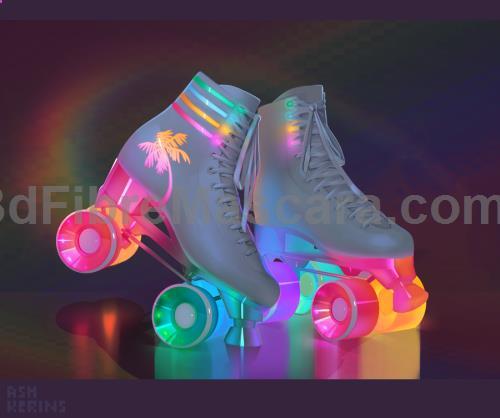 Glow In The Dark Roller Skates Cute Shoes Roller Skates Roller