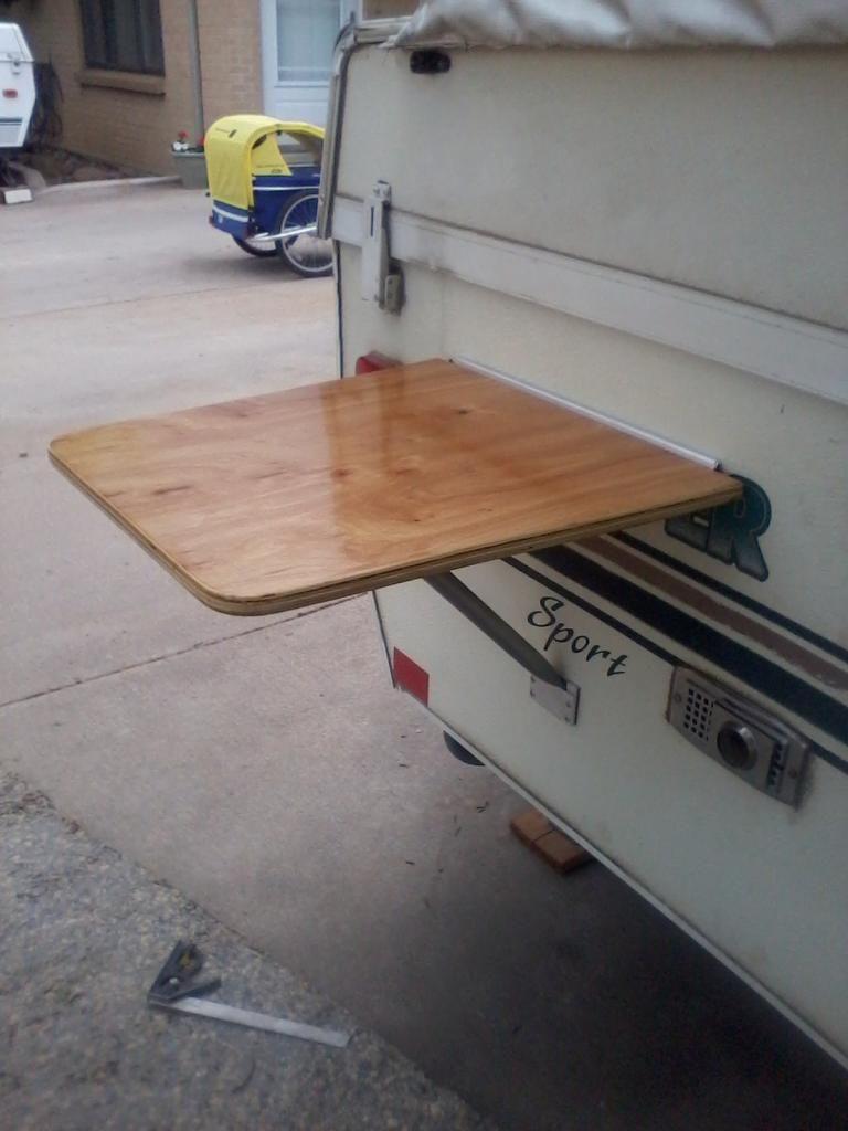 Adding Outside Table Top Camper Table Aliner Campers Pop Top Camper
