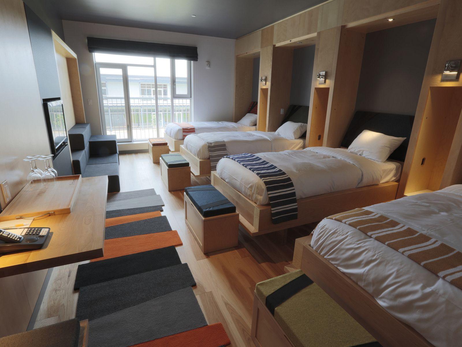LEMAYMICHAUD Architecture Design  Hotel room design, Hostels