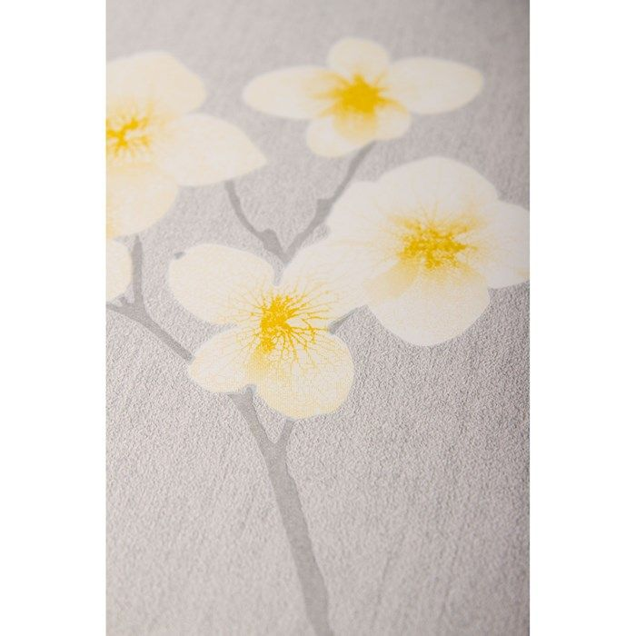 Radiance Grey Ochre Wallpaper by Graham
