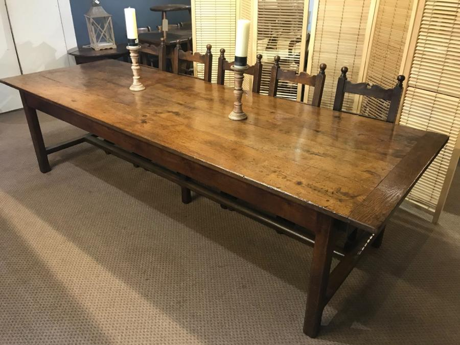 Rare Large 18th Century Oak Dining Table With Images Antique Dining Tables French Farmhouse Table Large Dining Table