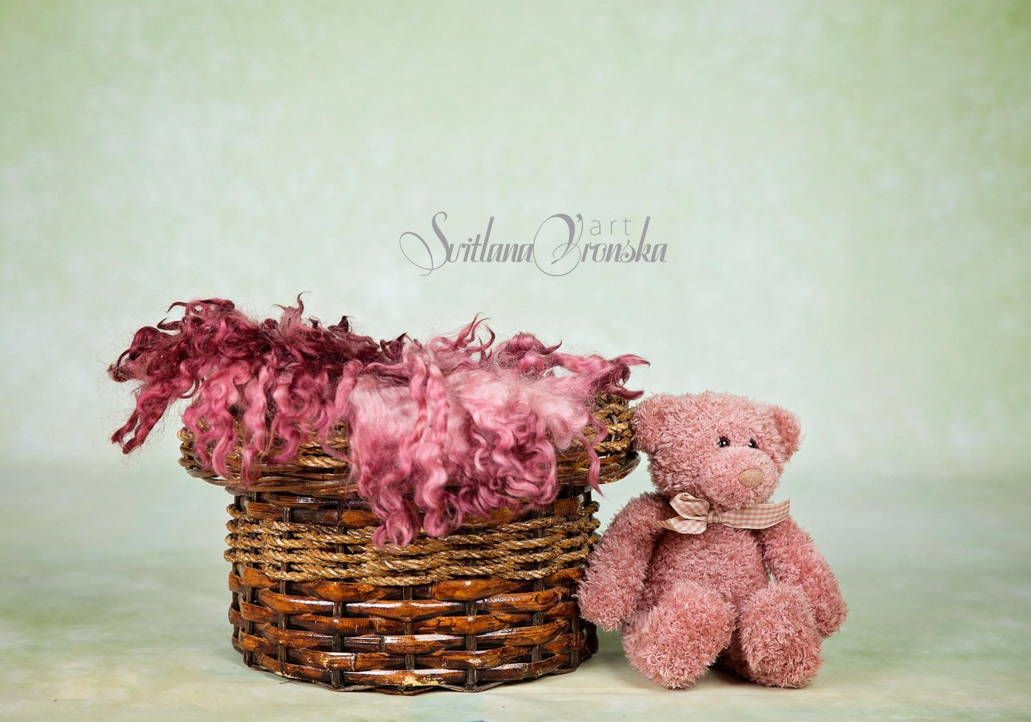 Set of two digital backdrop prop for newborn photography wooden bucket with teddy bear prop newborn digital backdrop by svitlanavronskaart on etsy