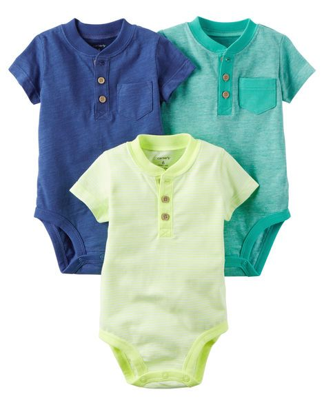 a43a36a66 Baby Boy 3-Pack Neon Original Bodysuits from Carters.com. Shop clothing &  accessories from a trusted name in kids, toddlers, and baby clothes.
