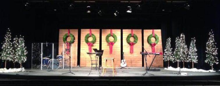 Christmas Stage Decorations