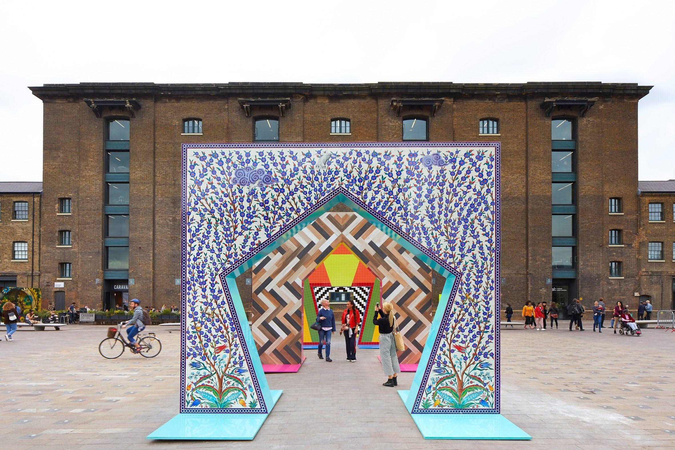 Gateways Installation By Adam Nathanial Firman History Of Ceramics Mosaic Art Environmental Graphic Design
