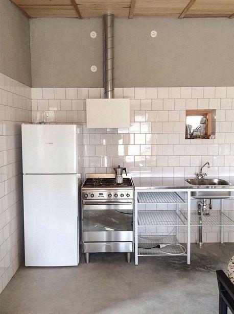Small Space Simple Rustic Kitchen Skalso Arkitekter Commercial Kitchen Design Small Kitchen Plans Kitchen Plans
