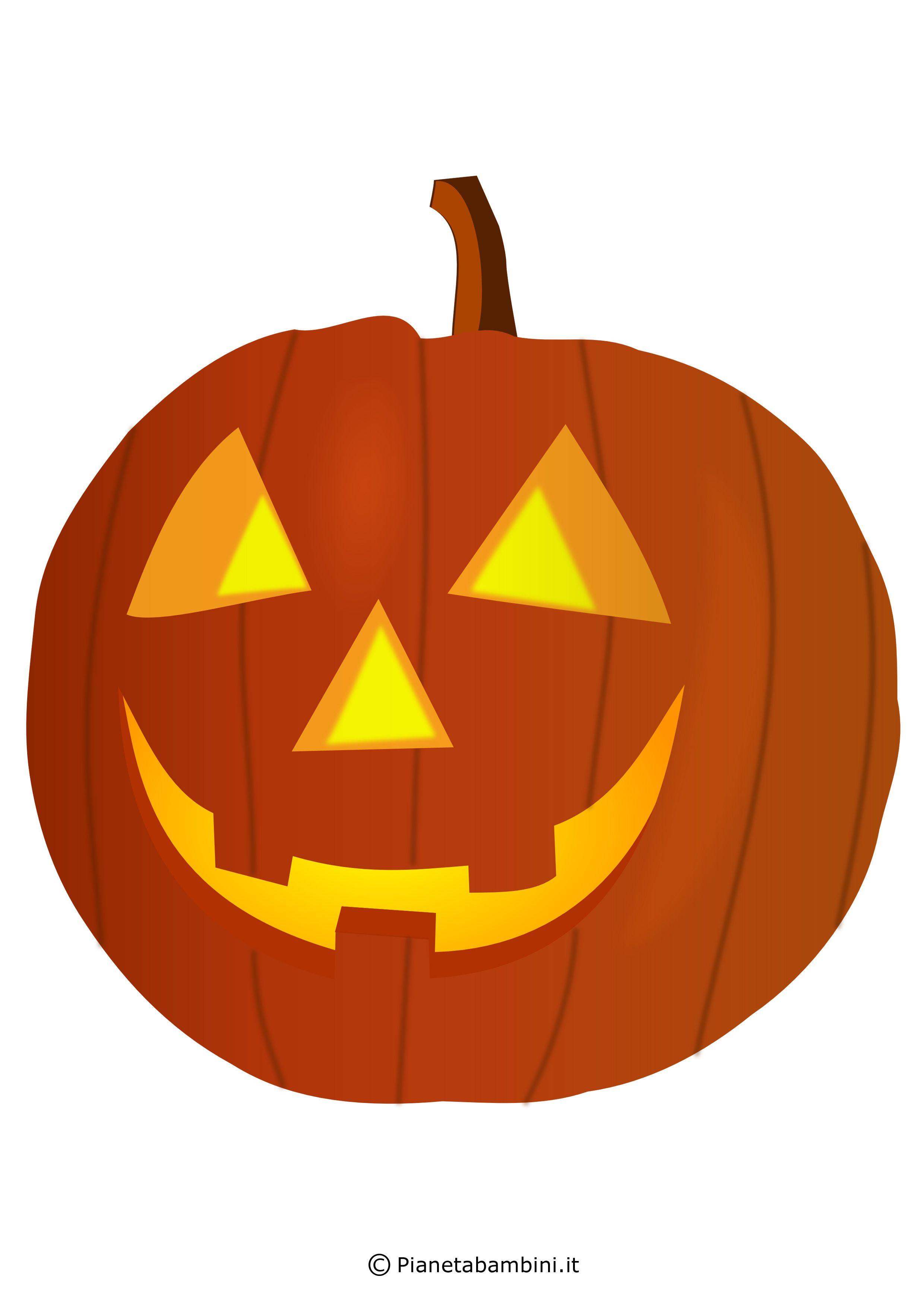 Intagliare Zucca Per Halloween Disegni immagini di zucche di halloween da stampare e ritagliare