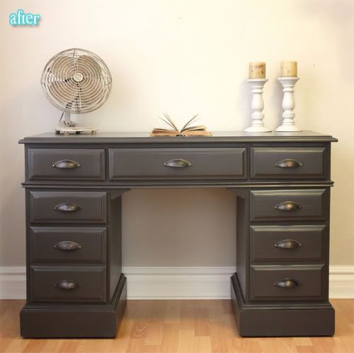 An Old Pine Desk Can Be Transformed With A Little Paint. Furniture ...