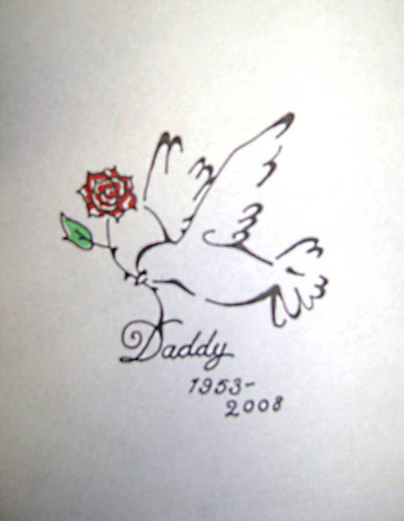 Dove carrying flower | Tattoo\'s | Pinterest