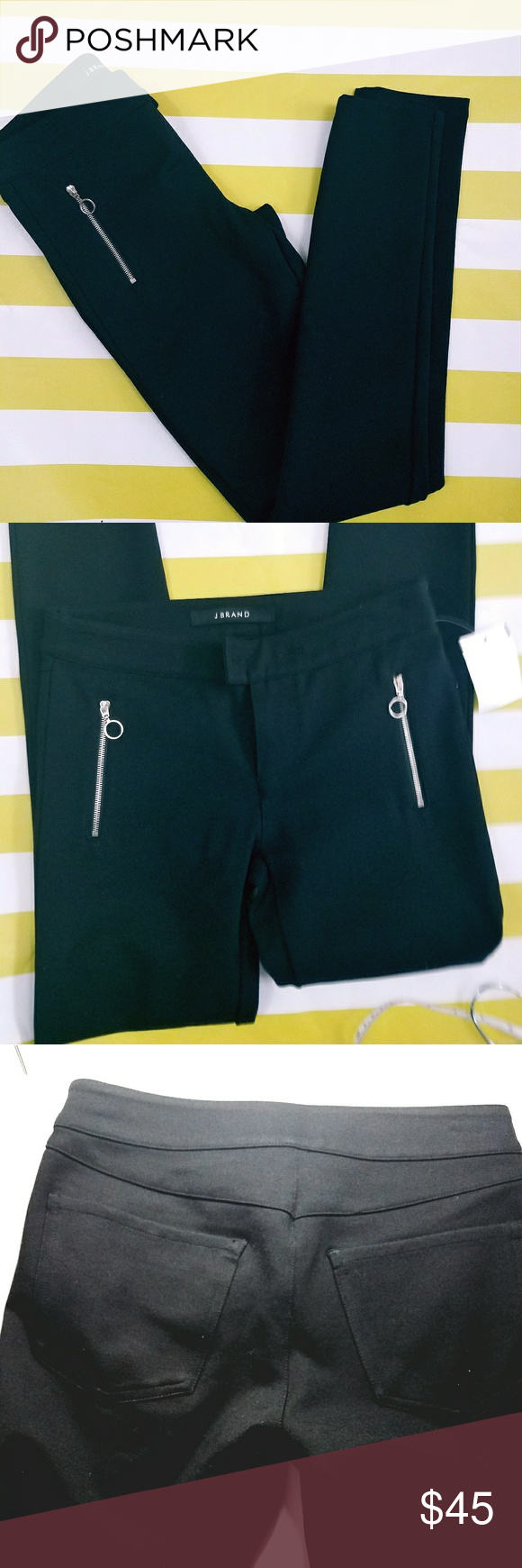 """J Brand skinny ponte knit pants NWOT ponte knit pants from J Brand Length approx: 35.5"""" Inseam approx: 28"""" Size 25 Missing front button  Seam coming apart as shown in the last photo but can easily be stitched J Brand Pants"""